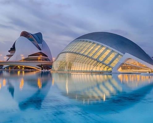 Ciutat de les Arts i les Ciencies, Valencia, Spain