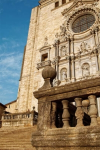 Girona, the staircase of the cathedral